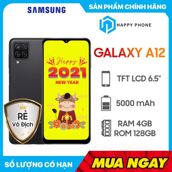 Điện Thoại Samsung Galaxy A12 (128GB/4GB) - Hàng chính hãng, mới 100%, Nguyên seal, Bảo hành 12 tháng