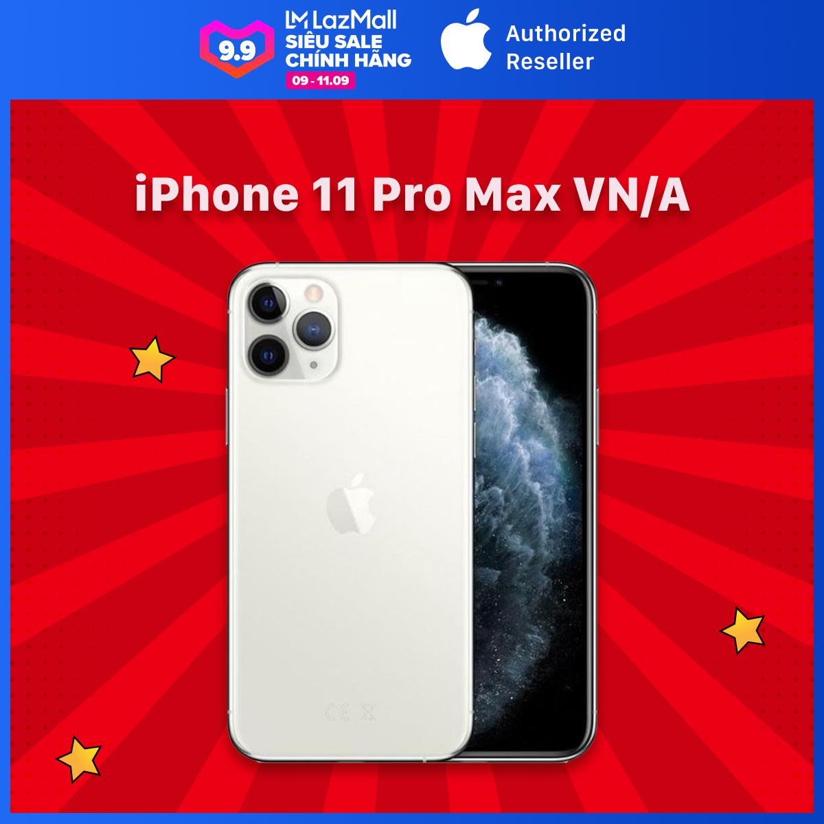 [9.9] [Voucher 1.6Tr Duy Nhất Hôm Này] iPhone 11 Pro Max - Chính Hãng VN/A - Mới 100% (Chưa Kích Hoạt, Chưa qua sử dụng) - Bảo Hành 12 Tháng Tại TTBH Apple - Trả Góp lãi suất 0% qua thẻ tín dụng - Màn Hình Super Retina XDR 6.5inch