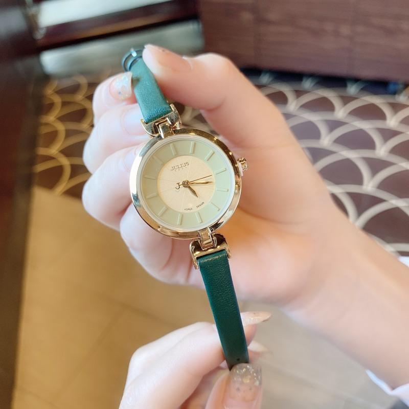 Đồng hồ nữ Julius Hàn Quốc JA-864B dây da (Xanh lá)