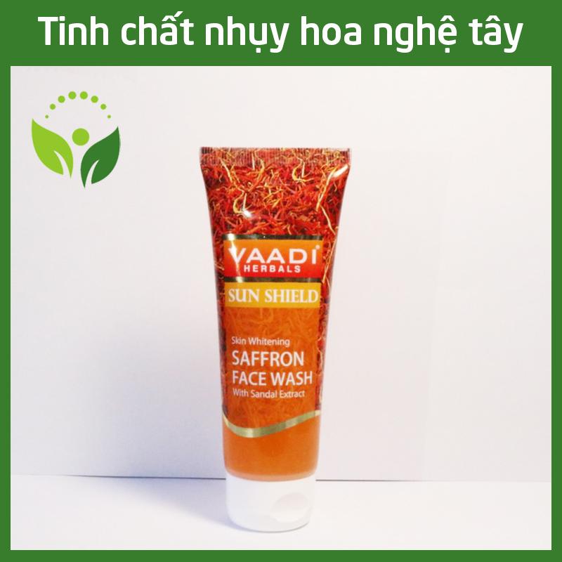 Sữa rửa mặt Tinh chất nhụy hoa nghệ tây trắng da Saffron Face Wash Vaadi 60ml - Phù hợp da nhạy cảm giá rẻ