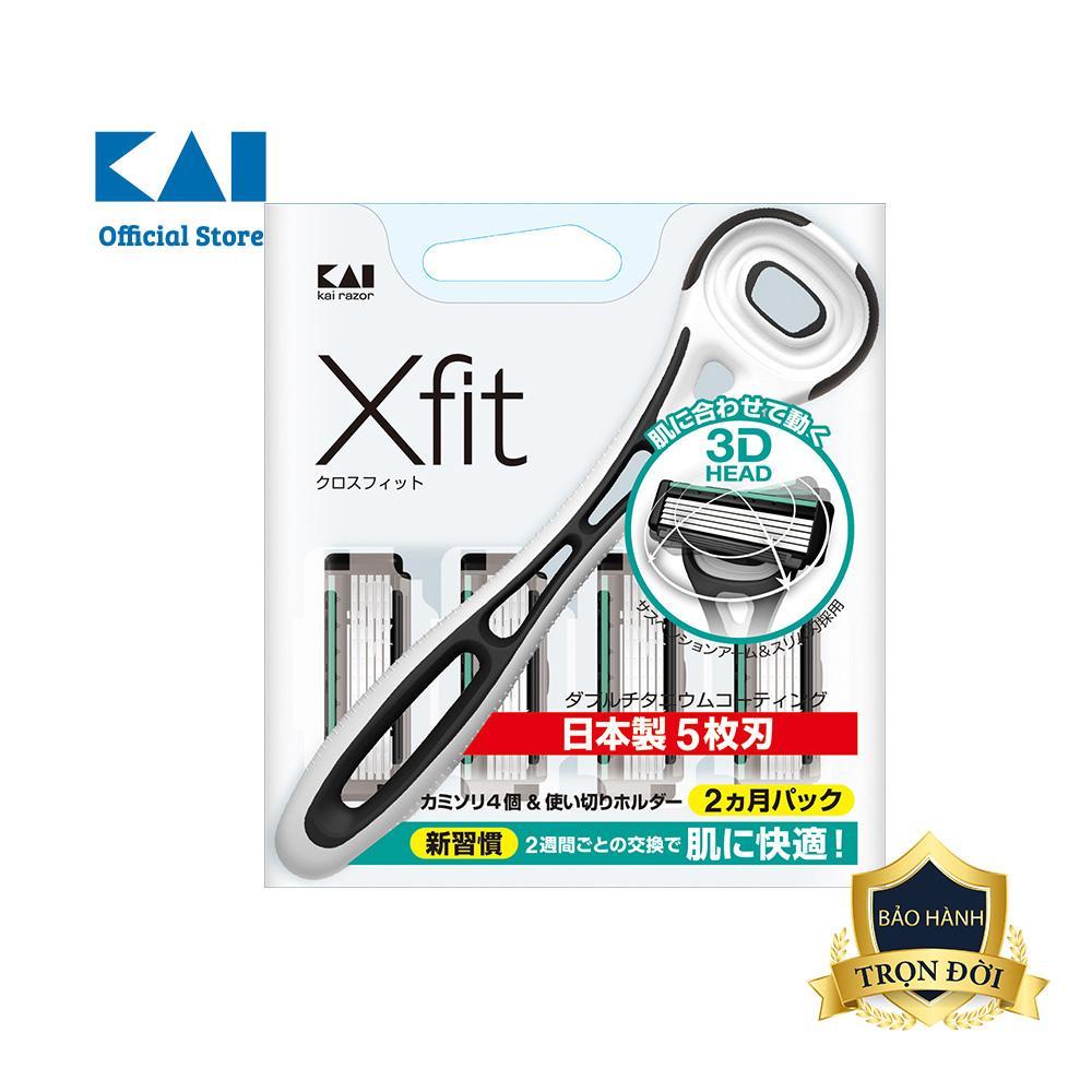 Dao cạo râu cao cấp Nhật Xfit 5 Blade trắng tốt nhất