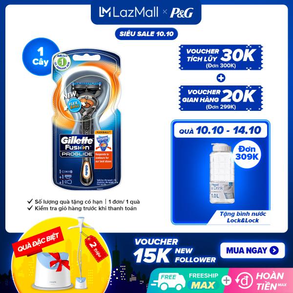 [10-14.10 Quà khi đủ điều kiện] Dao cạo râu Gillette Fusion5 Proglide Flexball cao cấp