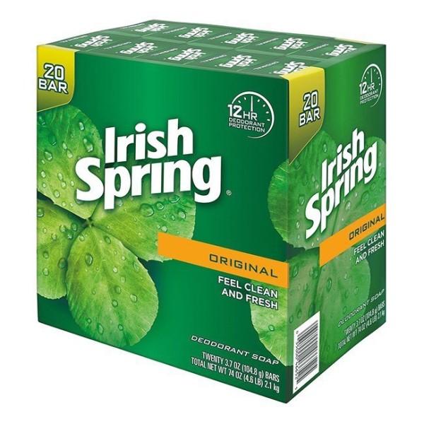 Combo 4 cục xà bông Irish Spring Original size lớn 104.8g x 4 diệt khuẩn, khử mùi - Mỹ cao cấp