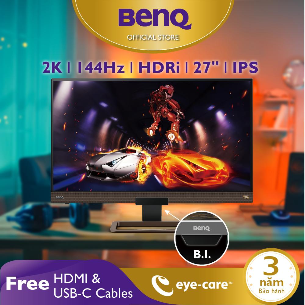 Màn hình Gaming BenQ EX2780Q 27 inch 2K 144Hz với HDRi, FreeSync - Màn hình chơi Game, Giải trí và làm việc ở nhà. Work from home hiệu quả!