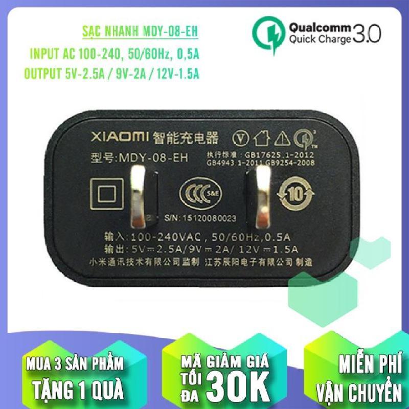 Củ sạc nhanh Quick Charge 3.0 sử dụng cho các dòng máy Xiaomi MDY-08-EH 5V/2.5A - 9V/2A
