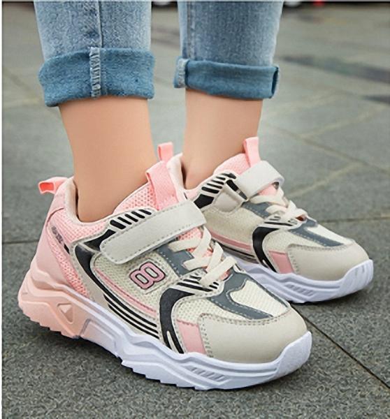 Giá bán Giày thể thao bé gái kiểu dáng thời trang thoáng khí, phong cách học sinh - TSS82