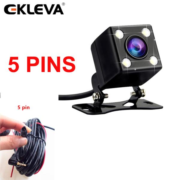EKLEVA Camera Quan Sát Phía Sau 2.5mm (4Pin hay 5Pin) jack cắm Cổng Cổng Video Với 4 ĐÈN LED Ban Đêm Cho Dash Cam Chống Thấm Nước