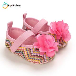 Tootplay Giày Em Bé Toddler Cô Gái Giày, Giày Công Chúa Kiểu Dân Tộc Mềm Mại Thoáng Khí
