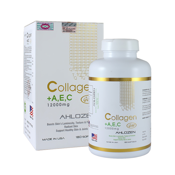 Viên Collagen AEC GOLD 12000mg hộp 180 Viên Hàng USA