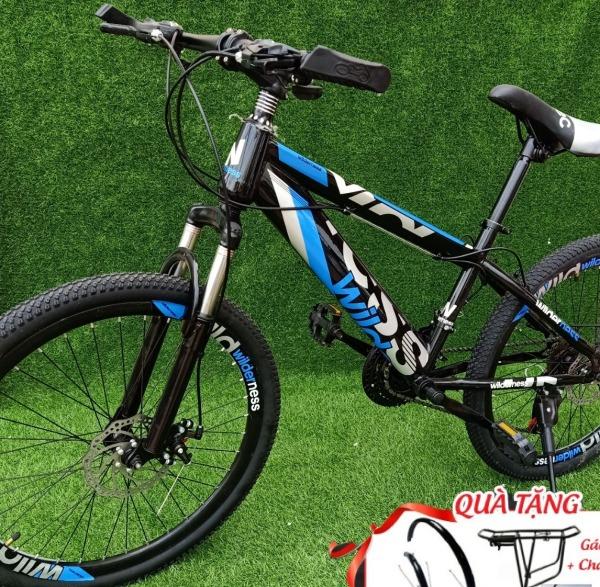 Mua XE ĐẠP THỂ THAO - CÓ VIDEO - HÀNG CAO CẤP chính hãng wil der ness -xe đạp thể thao người lớn- xe đạp địa hình 24 inch cho nguơì từ 1m40 -1m800