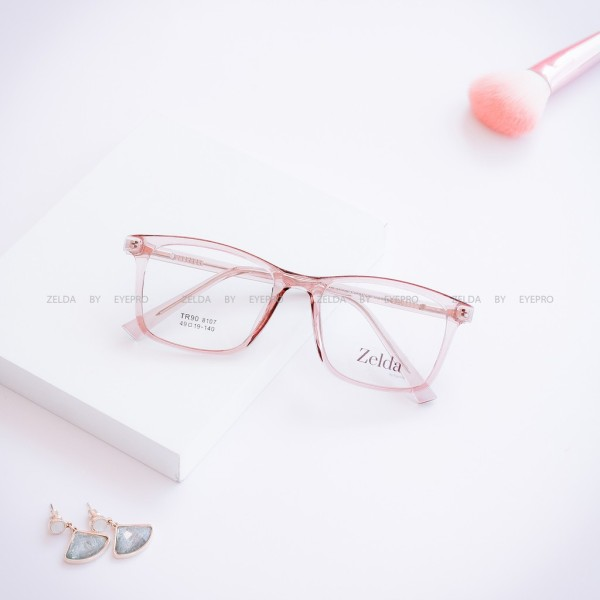 Giá bán [LẮP SẴN CẬN]Gọng kính cận nữ, gọng cận nhựa dẻo cốt kim loại, mắt kính vuông Z8107G