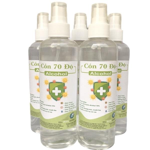 [Vòi xịt] Chai 250ml cồn y tế 70 độ dùng sát khuẩn, rửa tay giá rẻ