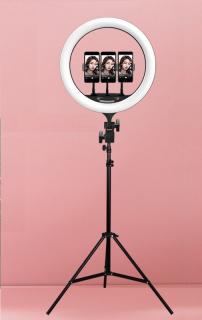 [CHÂN ĐÈN CAO 2M1] - Đèn Livestream chuyên nghiệp và trang điểm size 36cm 3 kẹp điện thoại - Bộ đèn chụp makeup studio LED Ring + chân đèn chuyên dụng - Đèn Led Hỗ Trợ Livestream, Chụp Hình Sản Phẩm, Makeup, Studio - thegioisilevip thumbnail
