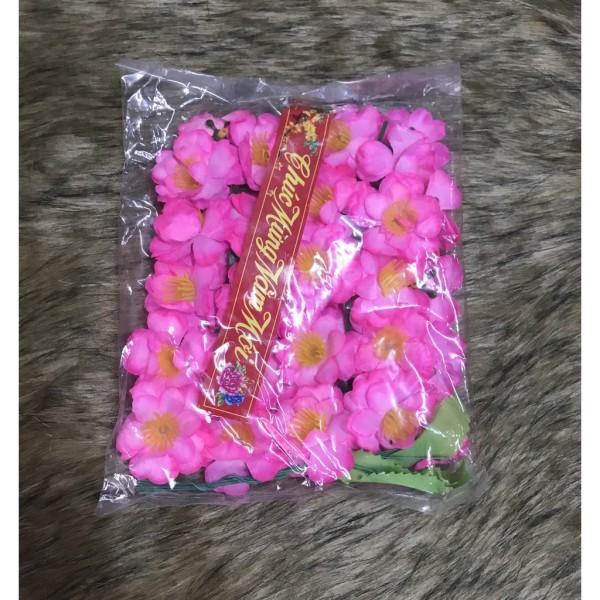 Hoa mai, hoa đào giả vĩ 40 bông kèm lá và kẽm tramg trí ngày tết
