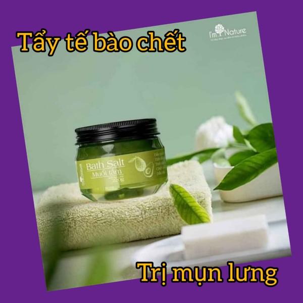 Muối Tắm Thảo Mộc I'm Nature 220g (chiết xuất dầu quả bơ,tinh dầu hương thảo,tràm gió,trà xanh & dầu oliu)