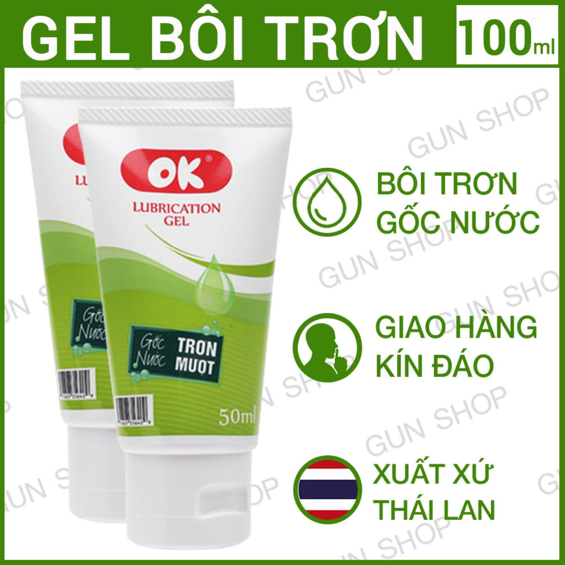 [100ml]  Bộ 2 Gel Thái Lan Ok - Bôi Trơn Gốc Nước  - GUNSHOP nhập khẩu
