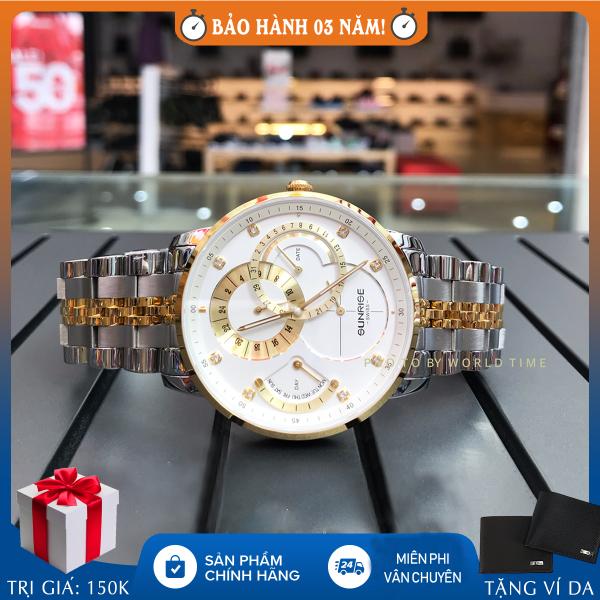 Đồng hồ nam Sunrise 1146SA Demi Full hộp, túi, thẻ bảo hành 3 năm, sapphire chống xước, chống nước bán chạy