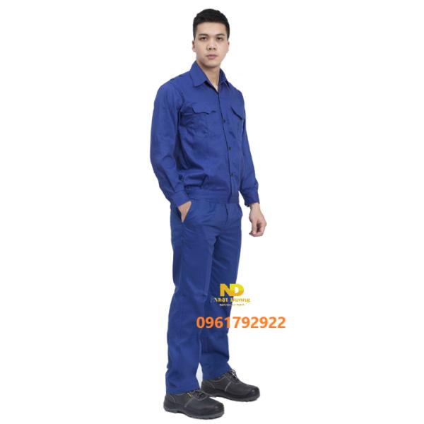Quần áo bảo hộ công nhân màu xanh