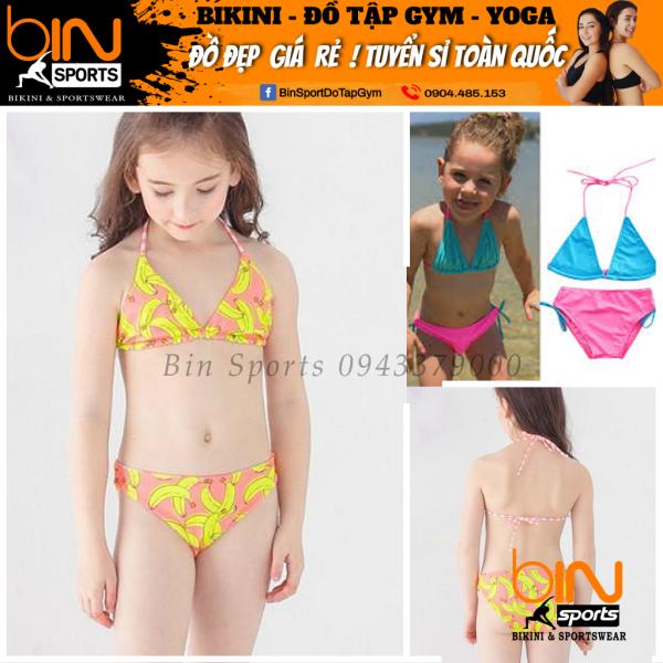 Giá bán Đồ Bơi Bé Gái 2 Mảnh Tam Gíac Dễ Thương Nhiều Màu Đáng Yêu Size Từ 10kg Đến 30kg Bin Sports BB012