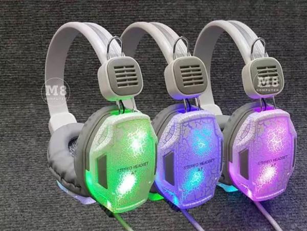 Bảng giá Tai nghe chuyên game Headphone A7 Led 7 màu cực đẹp, Tai nghe game thủ dây dài nghe nhạc cực hay, siêu êm không đau tai, Tai nghe hàng cao cấp Phong Vũ