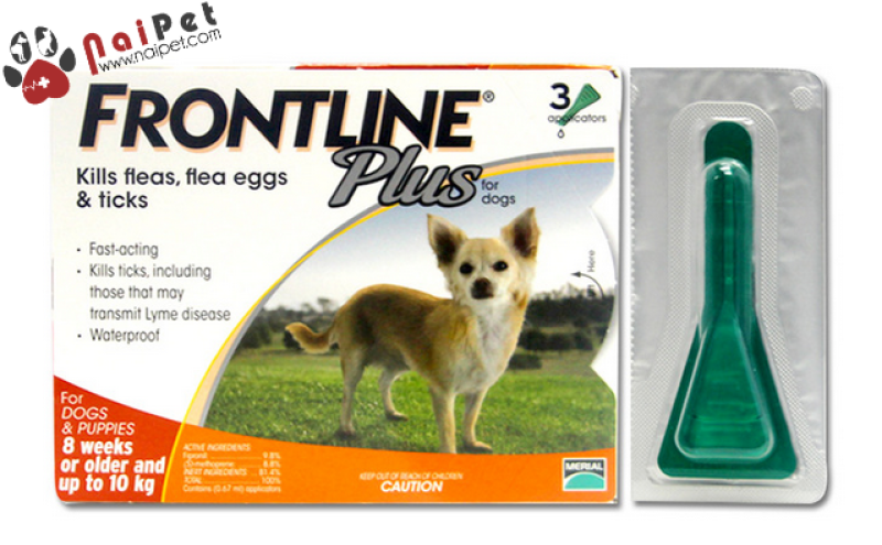 Nhỏ Gáy Phòng Và diệt Ve Rận Bọ Chét Cho Chó Frontline Plus For Dogs