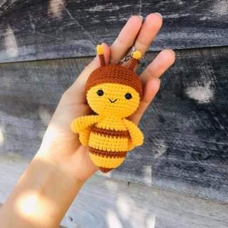 Móc khóa Đom Đóm Jack- J97-Móc len Handmade-Combo Đóm + Hoa hướng dương thumbnail
