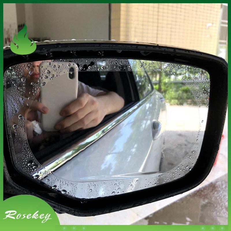 Bộ 2 miếng dán kính chống bám nước mưa hình bầu dục giúp chống bám nước mưa trên gương và giúp chống lóa gương