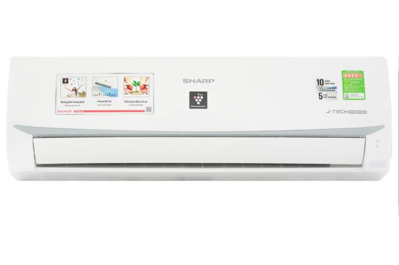 Máy lạnh Sharp Inverter 1.5 HP AH-XP13WMW (2019) - Loại máy:Điều hoà 1 chiều (chỉ làm lạnh) - Chế độ làm lạnh nhanh:Powerful Jet - Lọc bụi, kháng khuẩn, khử mùi:Công nghệ lọc không khí Plasmacluster ion