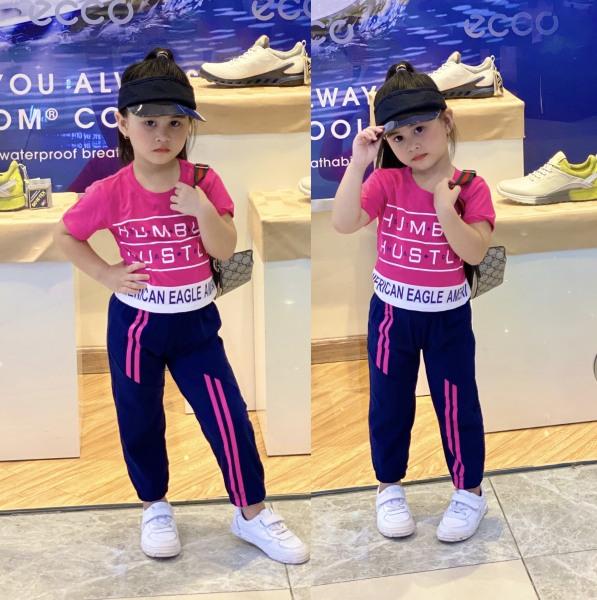 Giá bán Bộ lửng quần thụng dáng thể thao năng động cá tính cho bé gái size đại từ 22 đến 40kg