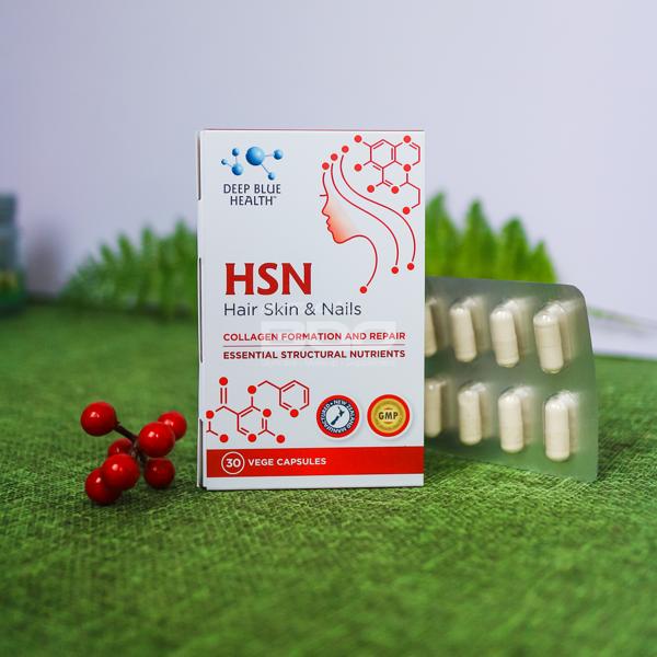 [HCM]Viên uống hỗ trợ trị mụn dưỡng móng tóc HSN – Deep Blue Health