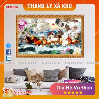 Tranh Dán Tường 3D Mã Đáo Thành Công - Tranh 3D Phong Thủy - Giấy dán tường 3d - Song Long Decor - DEMO90 thumbnail