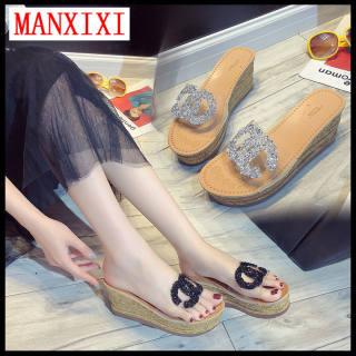 MANXIXI Thương Hiệu Thời Trang Đế Dày Dép Đế Bằng 3.15 Inch Dép Đẹp Cho Nữ (Size 34-40)