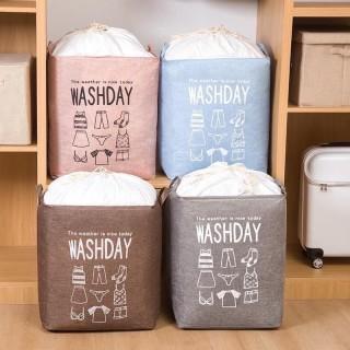 Túi đựng mền, chăn màn quần áo siêu to 100Lit vintage - giỏ đựng chăn mền cực bền - Túi vải vintage cỡ lớn đựng chăn mền drap, quần áo thumbnail