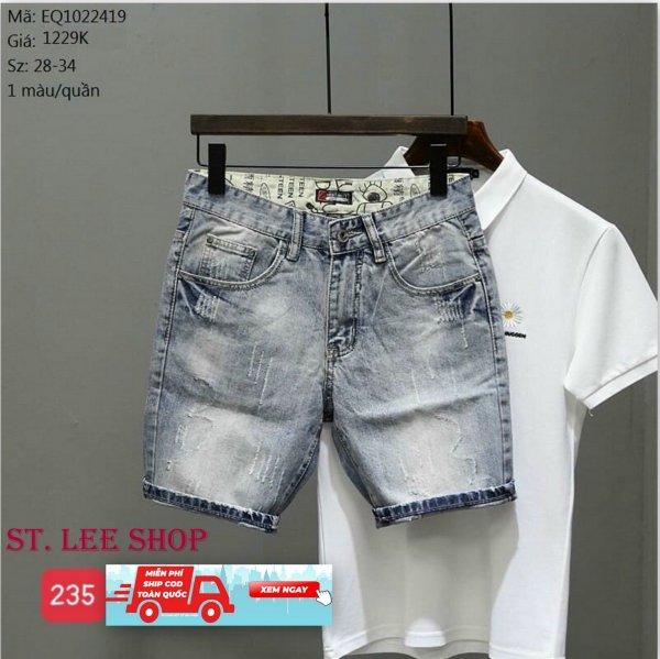 Nơi bán quần short jean nam cao cấp ST.LEE SHOP mẫu mới nhất STV235 siêu hot siêu đẹp sang trọng thiết kế trẻ trung hiện đại thời trang ST.LEE SHOP ST097
