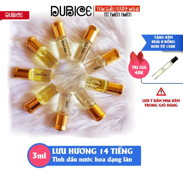 [Thơm lâu 14 tiếng] Tinh dầu nước hoa Dubai dạng lăn chiết mini 3ml, hàng cao cấp, gồm 20 mùi nước hoa nam nữ unisex giá rẻ