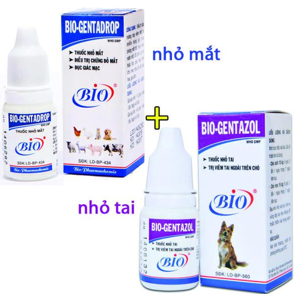 Combo thuốc nhỏ tai + thuốc nhỏ mắt Bio cho chó mèo - 79204 +205