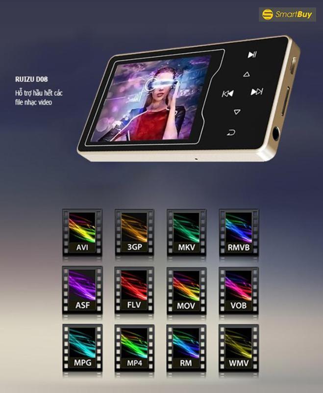 Máy nghe nhạc màn hình HD 2.4 inches Ruizu D08
