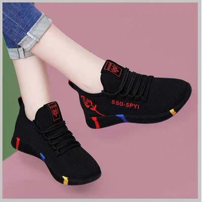 Giầy thể thao nữ giá rẻ 2020 l giày nữ trắng l sneaker nữ trắng l Giày đi bộ l giày thể dục l giày giả dây giá rẻ