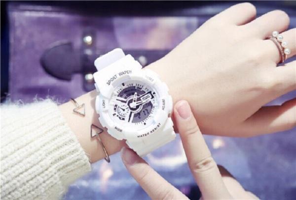 Đồng hồ điện tử nam nữ Sport Watch chạy kim và điện tử cực chất MS8267 BL79 bán chạy