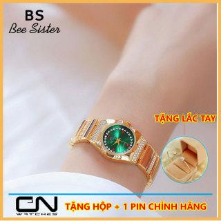 Đồng hồ nữ chính hãng BS Bee Sister 1647 mới nhất thời trang mặt nhỏ đính đá giản dị chống nước - đồng hồ nữ Hàn Quốc thumbnail