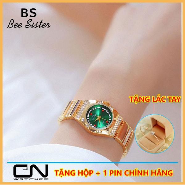 Đồng hồ nữ chính hãng BS Bee Sister 1647 mới nhất thời trang mặt nhỏ đính đá giản dị chống nước - đồng hồ nữ Hàn Quốc bán chạy