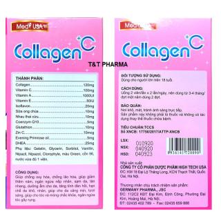 [Hộp 60 viên] Viên Uống Trắng Da Toàn Thân MedyUSA COLLAGEN +C -Với thành phần Collagen 120mg.sữa ong chúa, nhau thai cừu- giúp chống lão hóa, giảm thâm nám,ngăn ngừa nếp nhăn , tàn nhang 7