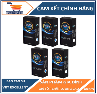 Combo 5 hộp Bao cao su VRT Excellent 12 chiếc ( tổng cộng 60 chiếc ) thumbnail
