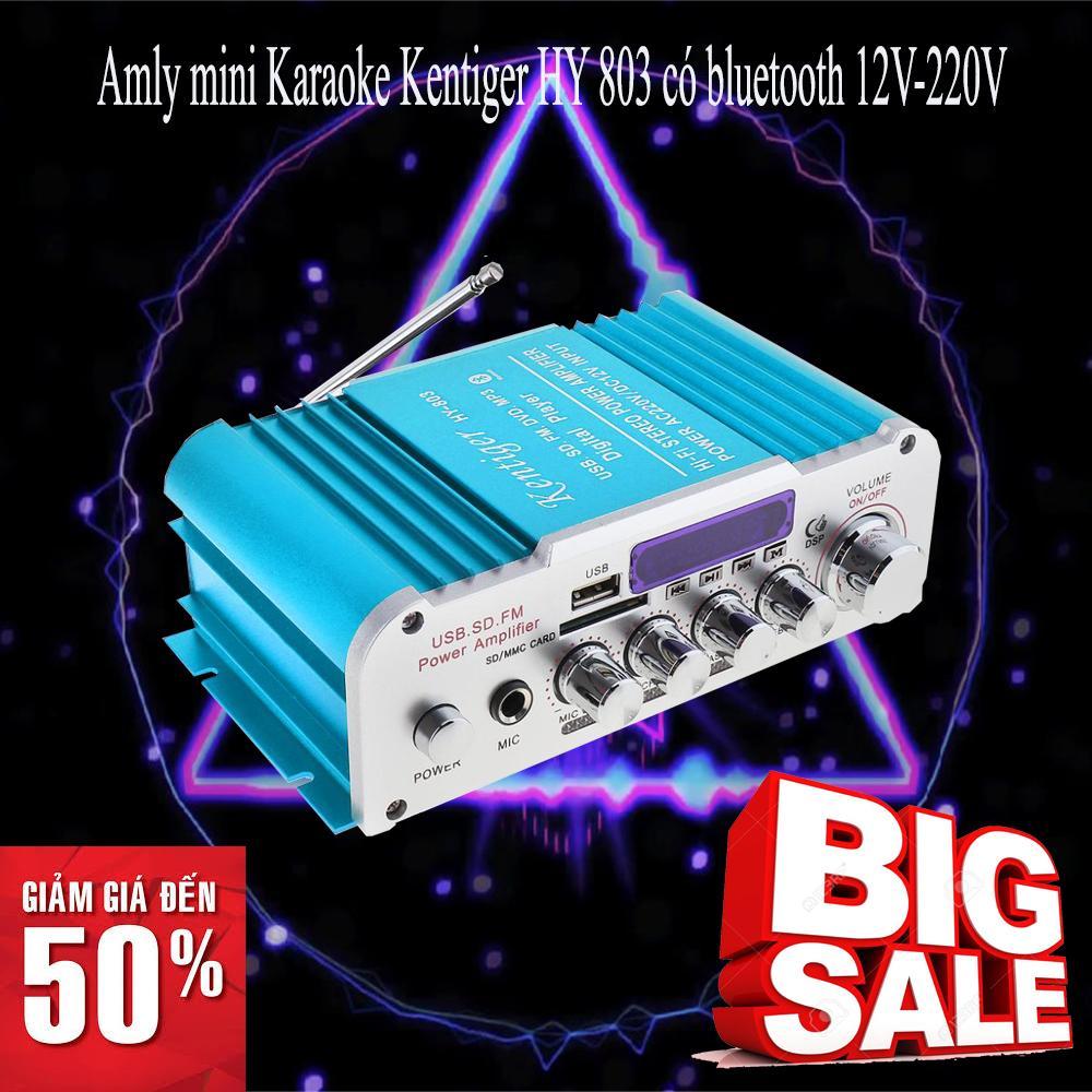 Amply kết nối Bluetooth cao cấp nhập khẩu Amply mini cao cấp Amly mini Karaoke Kentiger HY 803 Chất lượng cao cấp bảo hành toàn quốc