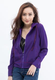 Áo khoác nữ viền đánh bông, vải thun lạnh Phúc An 4038 thumbnail