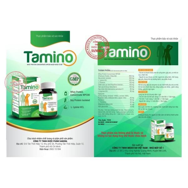 Tăng cân TAMINO - Bổ Sung Hợp Chất Whey Protein từ Mỹ