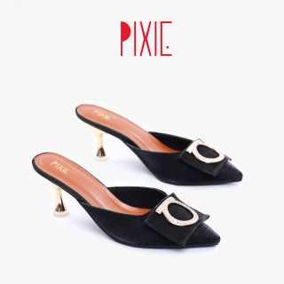 Giày Sục Cao Gót 5cm Mũi Nhọn Khóa Tròn Pixie X616
