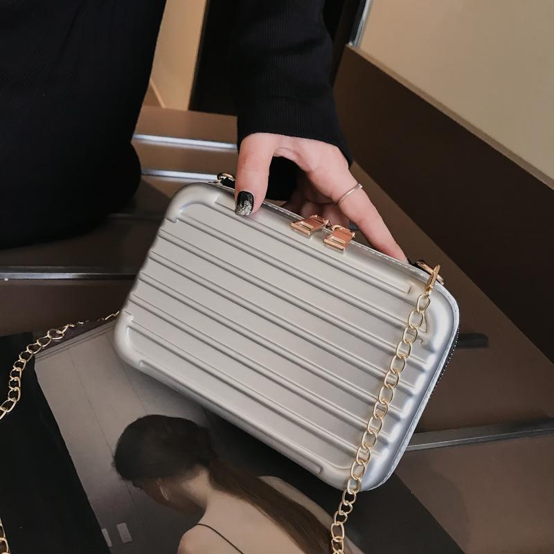 Túi đeo chéo vali cốp mini dây xích siêu hot -TXN83, Túi đeo chéo thời trang nữ