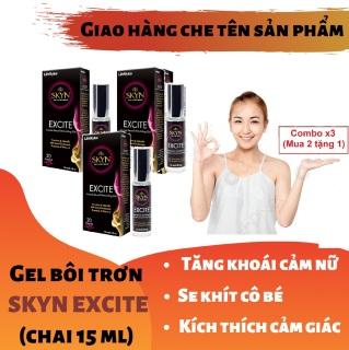 Combo x3 (Mua 2 tặng 1) Gel bôi trơn SKYN EXCITE cao cấp tăng khoái cảm cho nữ - giúp se khít làm hồng cô bé (chai 15ml) - hàng chính hãng thumbnail