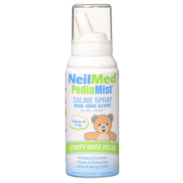 Bình xịt mũi cho bé Neilmed Pedia Mist Saline Spray 75ml